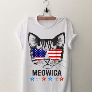 4Th Of July American Flag Cat Meowica shirt