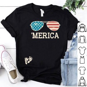 4Th Of July Pregnancy Merica Sunglasses shirt