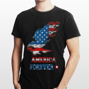 America Forever Vintage American Bald Eagle And Flag shirt