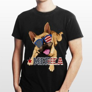 America French Bulldog Us Flag 4Th Of July shirt