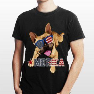 America French Bulldog Us Flag 4Th Of July shirt