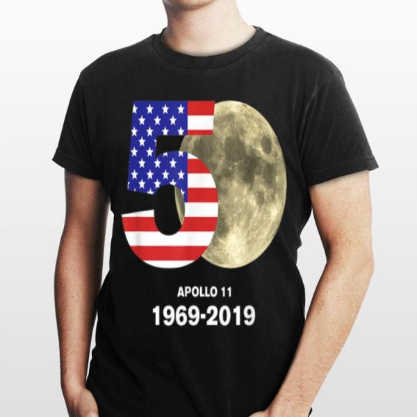 American Flag 50 th Apollo 1969 2019 Moon Landing shirt