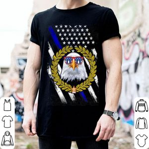 American Flag Patriotic Eagle Police shirt