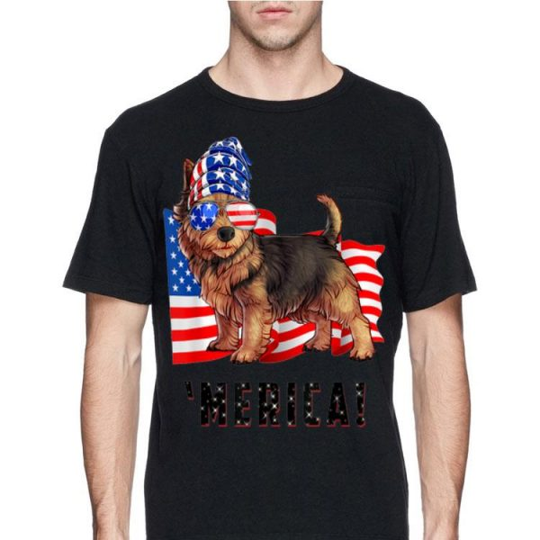 American Flag Usa 4Th Of July Norwich Terrier Dog shirt