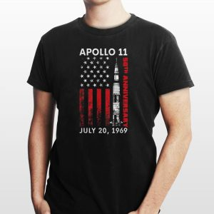 Apollo 11 50th Anniversary Moon Landning July 20 1969 American Flag shirt