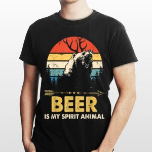 Beer Is My Spirit Animal Bear Deer Beer shirt