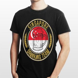 Beer Singapore Drinking Team Casual shirt