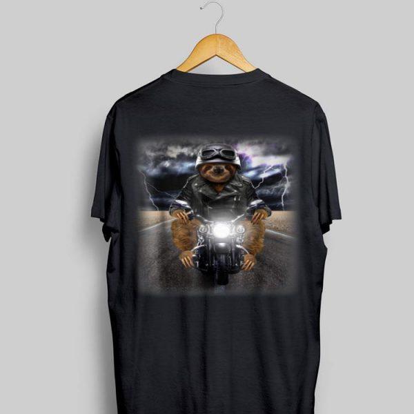 Biker Sloth Cruising on Motorcycle in Highway shirt