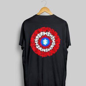 Captain American Autism Superhero Shield Awareness shirt