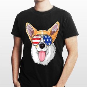 Corgi American Sunglasses 4Th Of July Dog Puppy Usa shirt