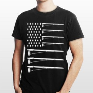 Fly Rod Fishing American Flag For Fisher Man shirt