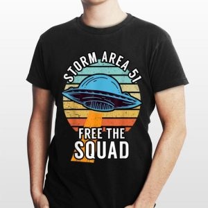 Funny Retro Storm Area 51 Free The Squad shirt