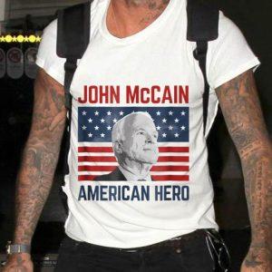 John McCain American Hero Usa Flag sweater
