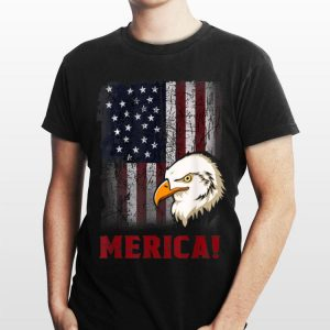 Merica 4Th Of July Bald Eagle Patriotic American Old Flag shirt
