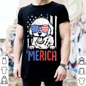 Merica Bichon Frise Dog Usa Flag 4Th Of July Patriotic shirt
