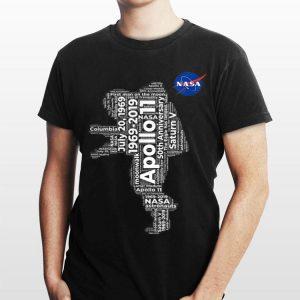 Nasa Approved Apollo 11 50th Astronaut Word Art Nasa Logo shirt