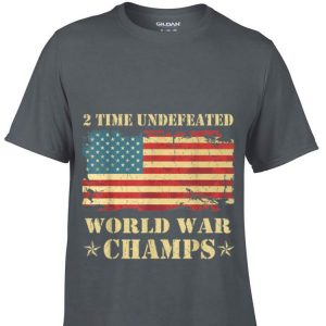 Premium 2 Time Undefeated World War Champs Ameican Flag shirt