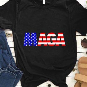 Premium Maga Donald Trump 2020 American Flag 4th Of July shirt