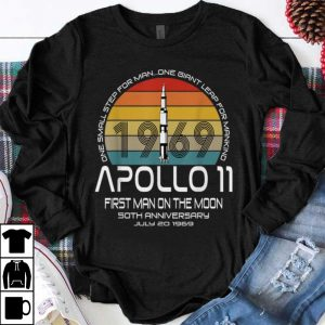 Premium One Small Step For man On Giant Leap For Mankind Apollo 11 First Man On The Moon Vintage shirt