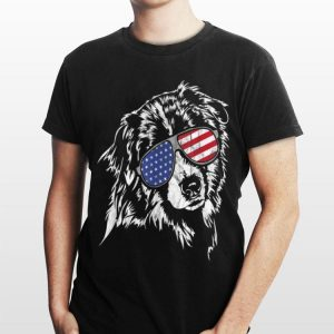 Proud Aussie America Flag Tee Dog shirt