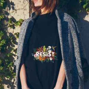 Resist Floral Anti Trump Political Protest tank top