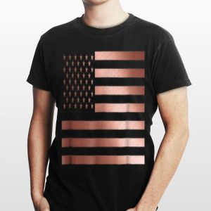 Rose Gold Usa Flag Idea 4Th Of July shirt