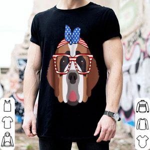 Saint Bernard American Turban Patriotic Dog Lover shirt