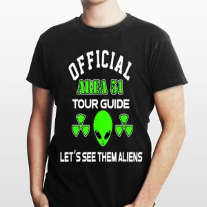 Storm Area 51 Fake Official Tour Guide For Believers shirt