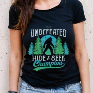 The Best Sasquatch Bigfoot Undefeated Hide & Seek World Champion Blue Vintage shirt