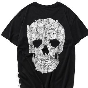 The best trend Cat Skull Skeleton Halloween Costume Idea shirt