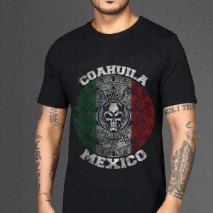 The best trend Coahuila Aztec Calendar Mayan Skull Mexican shirt 1
