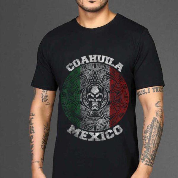 The best trend Coahuila Aztec Calendar Mayan Skull Mexican shirt