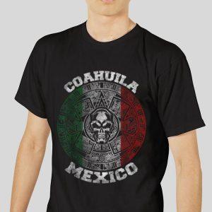 The best trend Coahuila Aztec Calendar Mayan Skull Mexican shirt 2