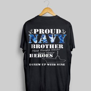 Us Military Proud Navy Brothers For Men Or Women shirt