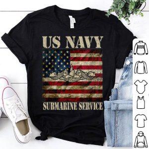 Vintage Us Navy Submarine Service American Flag shirt