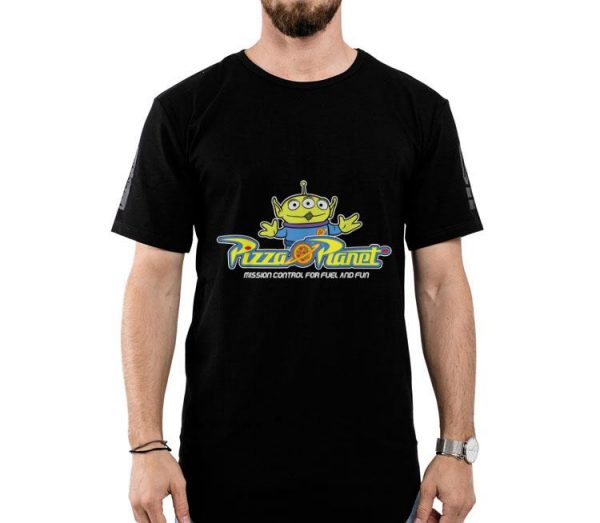 Disney Pixar Toy Story Alien Pizza Planet Mission Control shirt