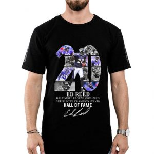20 Ed Reed Baltimore Ravens 2002-2012 Super Bowl Champion Hall Of Fame shirt