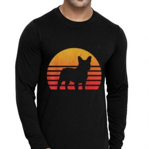 Vintage Retro Sunset French Bulldog Silhouette shirt 1