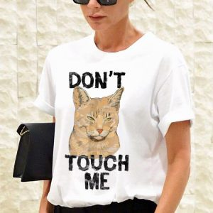 Awesome Cat Don't Touch Me shirt 2