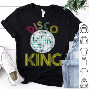 Awesome Mens Disco King 1970s Retro Party 70s Halloween Costume shirt