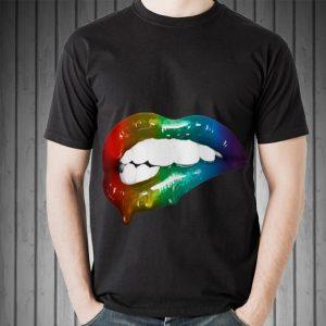 Awesome Rainbow Lips Art Addicts shirt