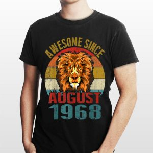 Awesome Since August 1968 Lion Vintage shirt