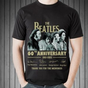 Awesome The Beatles 60th Anniversary Thank You For Memories Signature shirt
