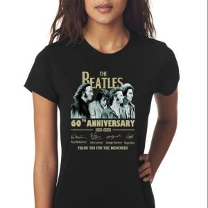 Awesome The Beatles 60th Anniversary Thank You For Memories Signature shirt 2