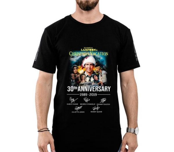 Christmas Vacation 30th Anniversary 1989 2019 Signature shirt