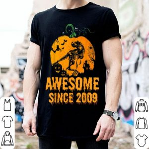 Funny Awesome Since 2009 - 10 Years Old Halloween Birthday shirt