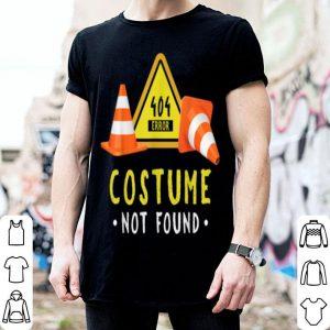 Funny Halloween Geek Nerd Costume Error 404 Not Found shirt