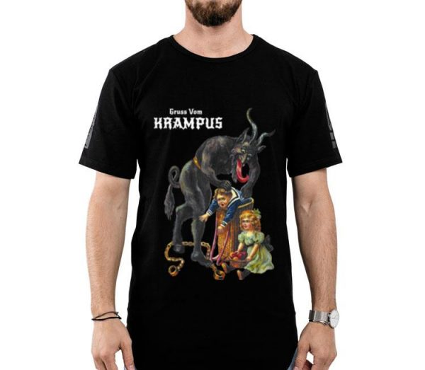 Greetings From Gruss Vom Krampus Demon Christmas shirt