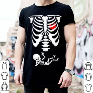 Hot Baby Skeleton Pregnancy Announcement X-ray Funny Halloween shirt