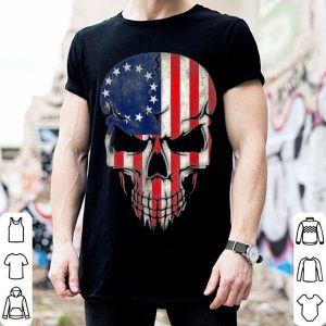 Hot Betsy Ross American Flag Halloween Reaper Military Skull shirt